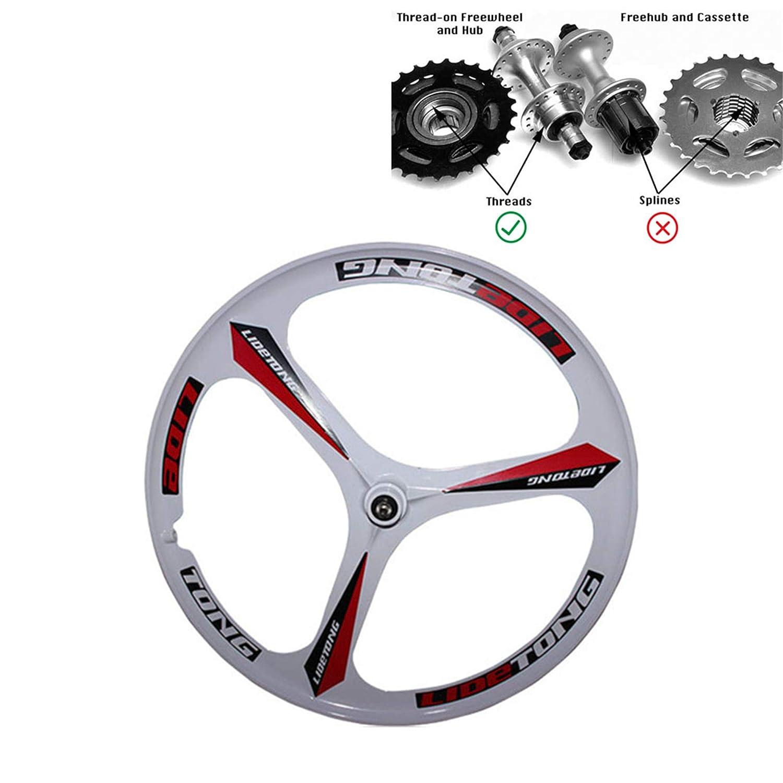 JARONOON MTB Llanta 24//26 Pulgadas Ruedas de Bicicleta de Monta/ña 3 Radios Llantas de Aleaci/ón de Aluminio de Magnesio Llantas Tipo de Soporte Soporte de Liberaci/ón R/ápida para Thread Flywheel.