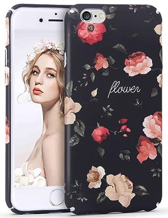 76c01e4abd Imikoko iPhone6S 6 ケース カバー スマホケース おしゃれ かわいい 花柄 人気 ブランド ハード 女子 ハード 携帯
