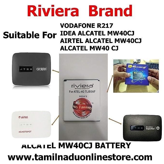 PCS SYSTEM - Battery Airtel ALCATEL MW40CJ Compatible 4G Hotspot Battery  Suitable for Model TLIB5AF