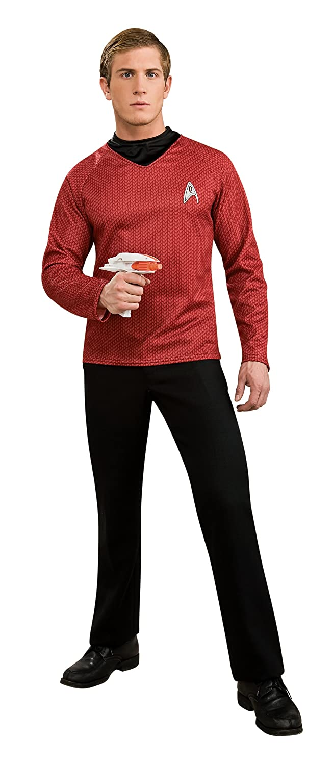 Amazon.com Rubieu0027s Star Trek Into Darkness Deluxe Scotty Shirt With Emblem Red Small Costume Clothing  sc 1 st  Amazon.com & Amazon.com: Rubieu0027s Star Trek Into Darkness Deluxe Scotty Shirt With ...