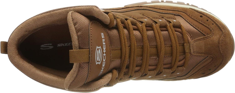 Skechers Energy, Bottes Classiques Femme Chestnut Leather Mesh Csnt