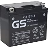 TAIWAN GS  [ 台湾ジーエス ] シールド型 バイク用バッテリー [ 液入充電済 ] GT12B-4