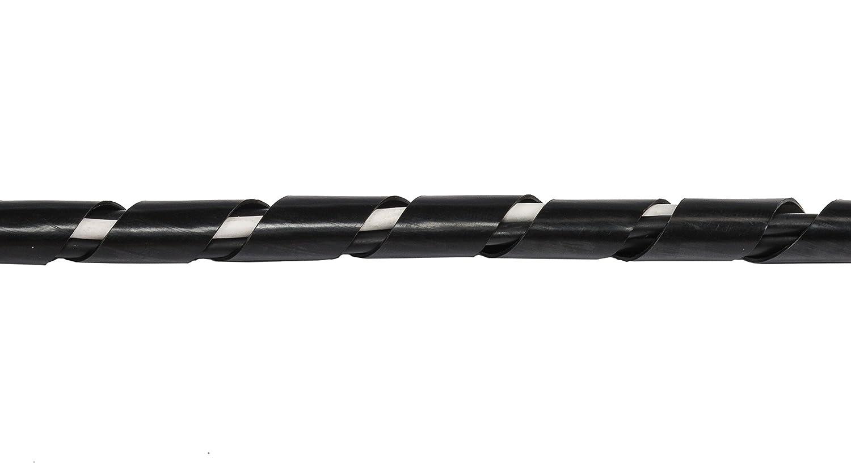 Conduit en spirale pour c/âbles Gaine pour c/âbles spirale diam/ètre : 4-50 mm longueur 2 m Couleur : noir Conduit spirale pour c/âbles Hicab