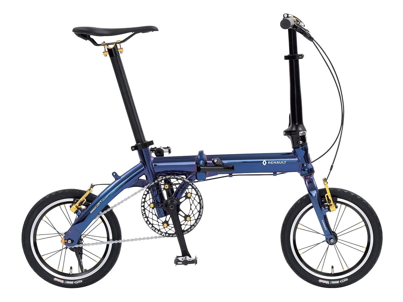 ルノー(RENAULT) 軽量コンパクト 6.7kg 14インチ 折りたたみ自転車 MIRACLE LIGHT 6 ブルー アルミフレーム 真空蒸着メッキ 鍛造フォーク 47T×10T 11293-0399 B07GRZ8H74