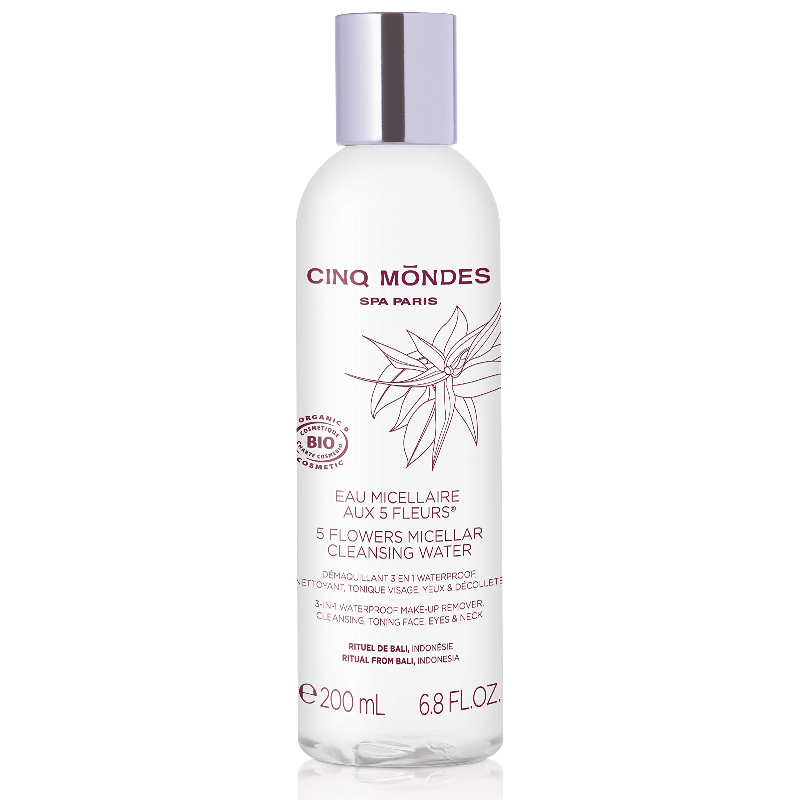 Five Flowers Micellar Water 200 ml by Cinq Mondes by CINQ MONDES