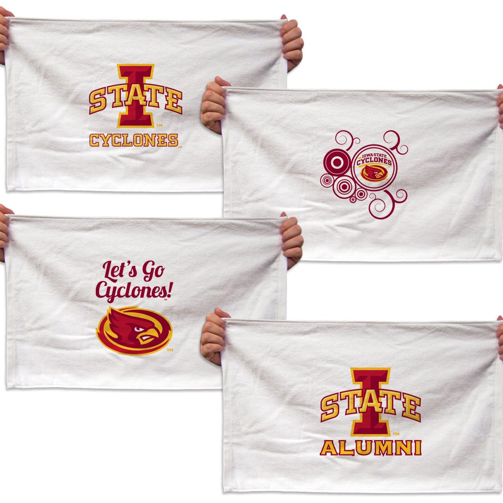 VictoryStore Towels - Iowa State University Rally Towel, Set of 4 Designs