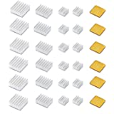 30 PCS Raspberry Pi 4 Heatsink Kit with Thermal Conductive Adhesive Tape, Aluminum Heat Sink Cooler and Copper Heatsink…