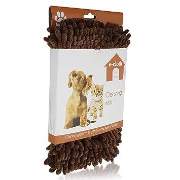 Amazoncom E Cloth Pet Cleaning Bathing Mitt Safe Chemical