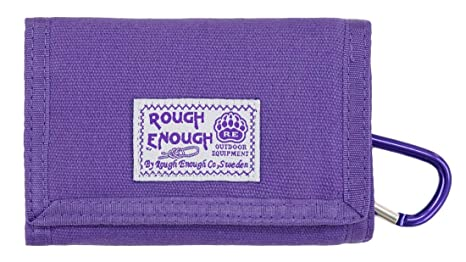 Amazon.com: RE ROUGH ENOUGH - Cartera de lona triple para ...