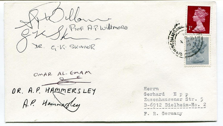 German Skinner Willmore Hammersley Al Emam sign Space Cover SIGNED