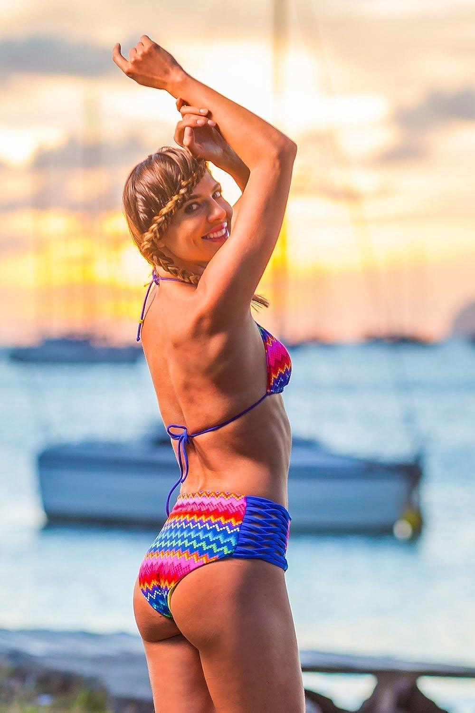 Bikini-Hose High-Waist Slip Emmatika Riga Tika Blau