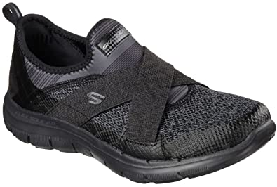 Skechers Flex Appeal 2.0 New Image Black Pink Womens Trainers Shoes-3 SqwaS