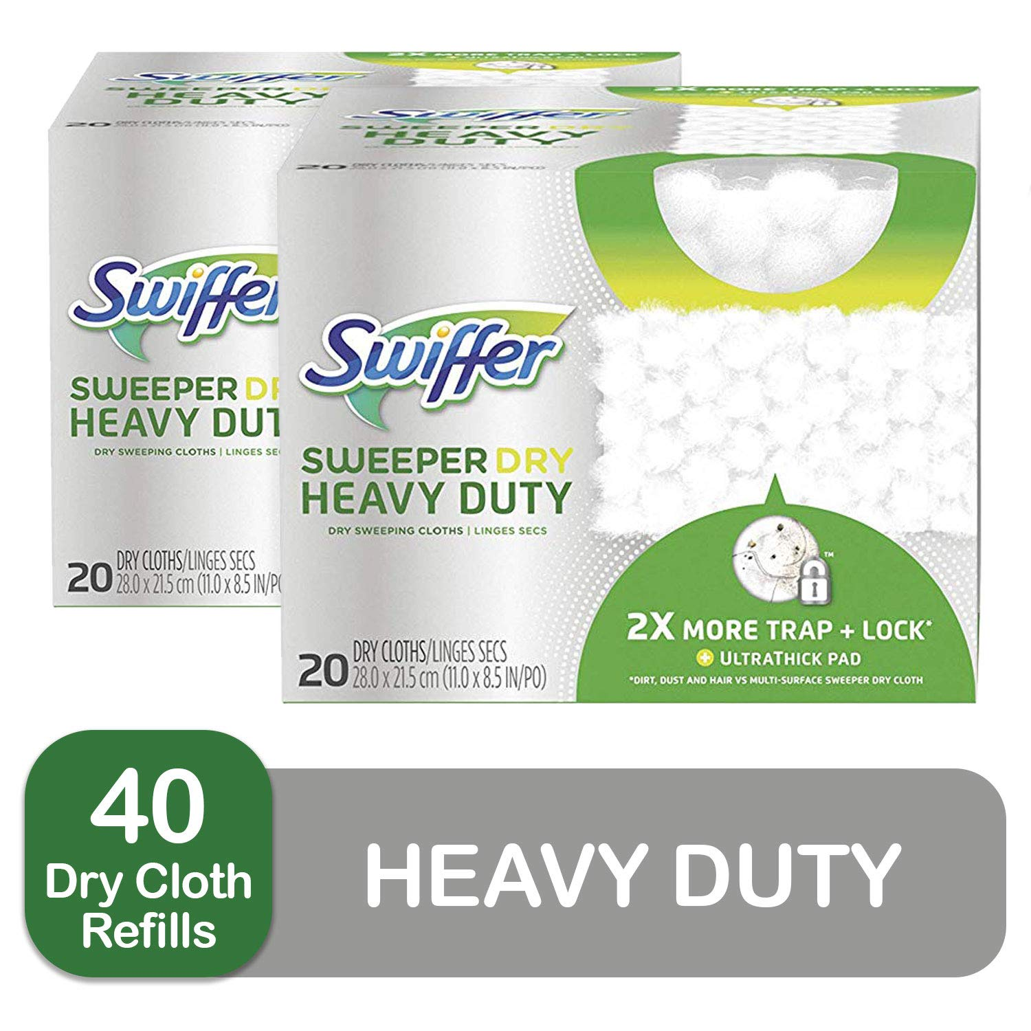 Swiffer Sweeper Heavy Duty Dry Sweeping Cloths, 40 Count
