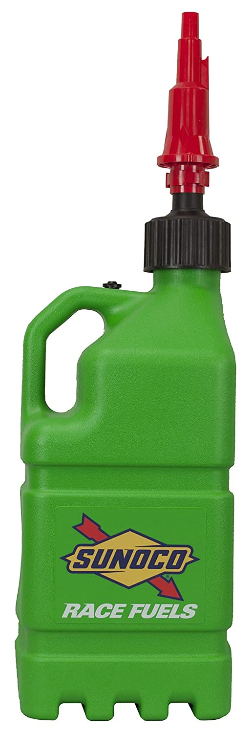 Sunoco Racing Green 5 Gallon Utility Jug w/Fastflo Lid w/Vehicle Tank Adapter