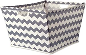 DII Collapsible Polyester Trapezoid Storage Basket, Home Organizational Solution for Office, Bedroom, Closet, & Toys (Large - 20x14x11