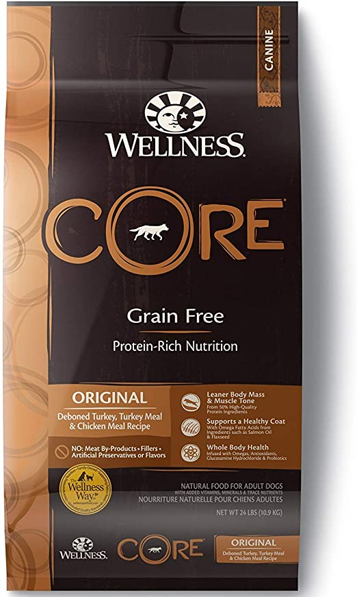 Wellness Core Natural Dog Food - Best Grain-Free Food for Dog with Hypothyroidism