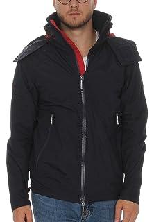 Superdry Men s Hooded Cliff Emboss Hiker Logo Jacket, Black 59a68301f65