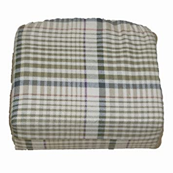 Home Trends Flannel Sheet Set Green Plaid Twin Bed Size Sheets Bedding