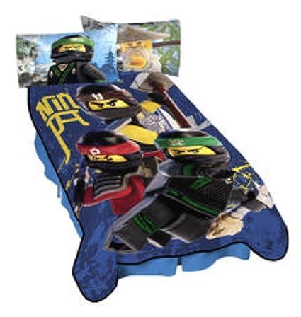 Amazon.com: LEGO Ninjago Bedding Plush Full Size Blanket - 62 in. x ...