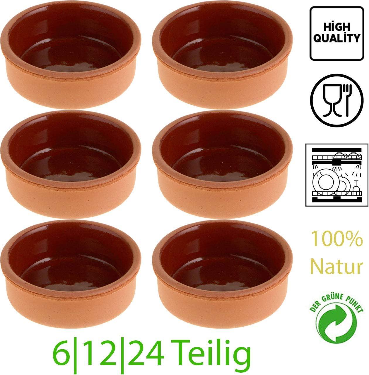 6 X Auflaufformen aus Ton Schalen für Tapas Gratin Güvec Avanos Sütlac Kase