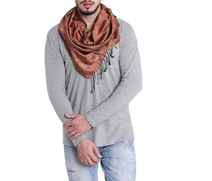 7e1ec146c21d0 Silk Neck Scarf For Men Light Soft Fashion Accessory Indian Clothing ...