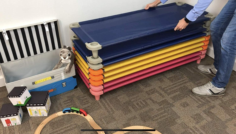 1 Einheit Acrimet Premium stapelbar Nap Kinderbett Blau