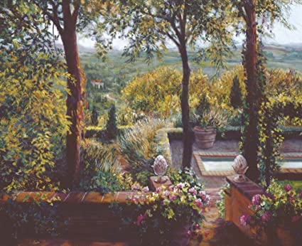 Tuscan Garden By Susan Rios Art Print, 20 X 16 Inches