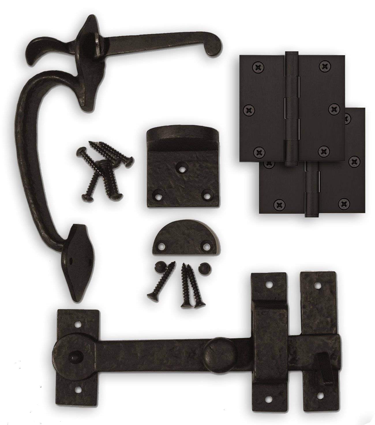 Coastal Bronze - Complete Gate Kit - Hinges / Thumb Latch / Drop Bar Set by Coastal Bronze