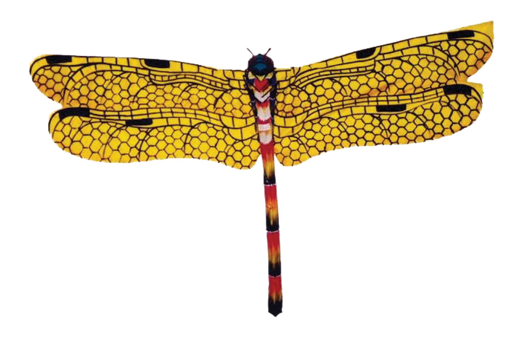 In the Breeze Dragonfly Bali Kite, Yellow