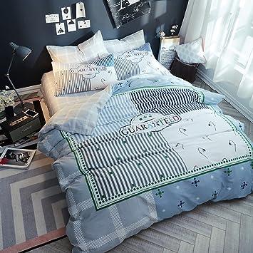 100 Baumwolle Bettwäsche Cover Bettwäsche Weich Komfortable Haut