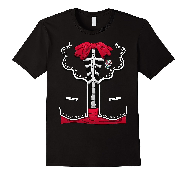 Day Of The Dead Halloween Costume Dia de los Muertos T-Shirt-Veotee
