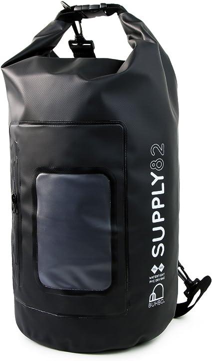 Waterproof Plain Dry Bags Storage Sack Pack Boating Kayaking Camping Rafting 15L