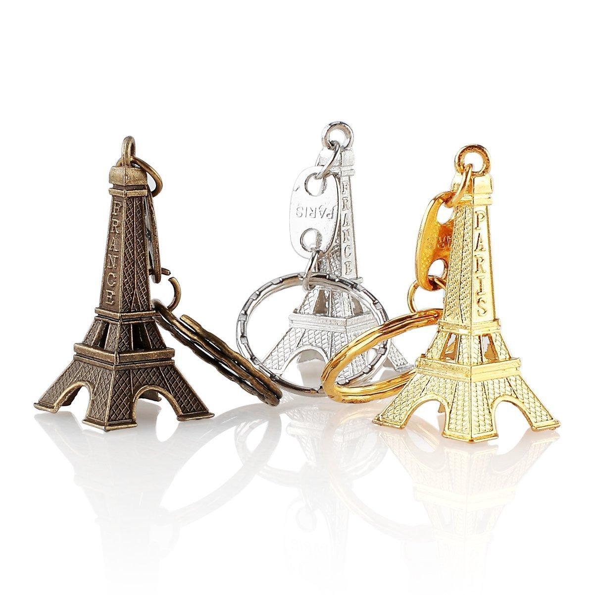 12pcs/lot 3D Eiffel Tower French Souvenir Paris Keychain Cute Adornment Keyring Wedding Bridal Shower Party Favor Gift
