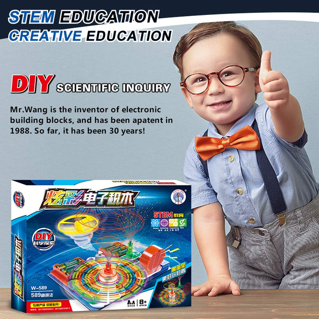 Cuifress Educational Snap Circuits Electronics Discovery Blocks Kit Science Toy Kids DIY by Cuifress (Image #6)