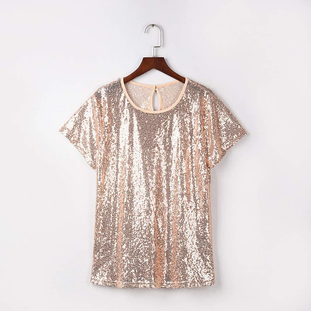 Mingfa - Camisetas de manga corta para mujer, estilo casual ...