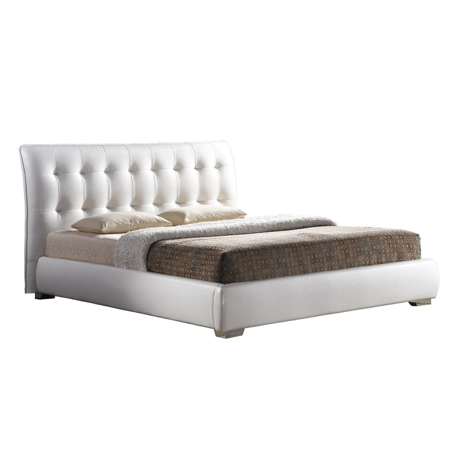 amazoncom baxton studio jeslyn modern bed with tufted headboard  - amazoncom baxton studio jeslyn modern bed with tufted headboard kingwhite kitchen  dining