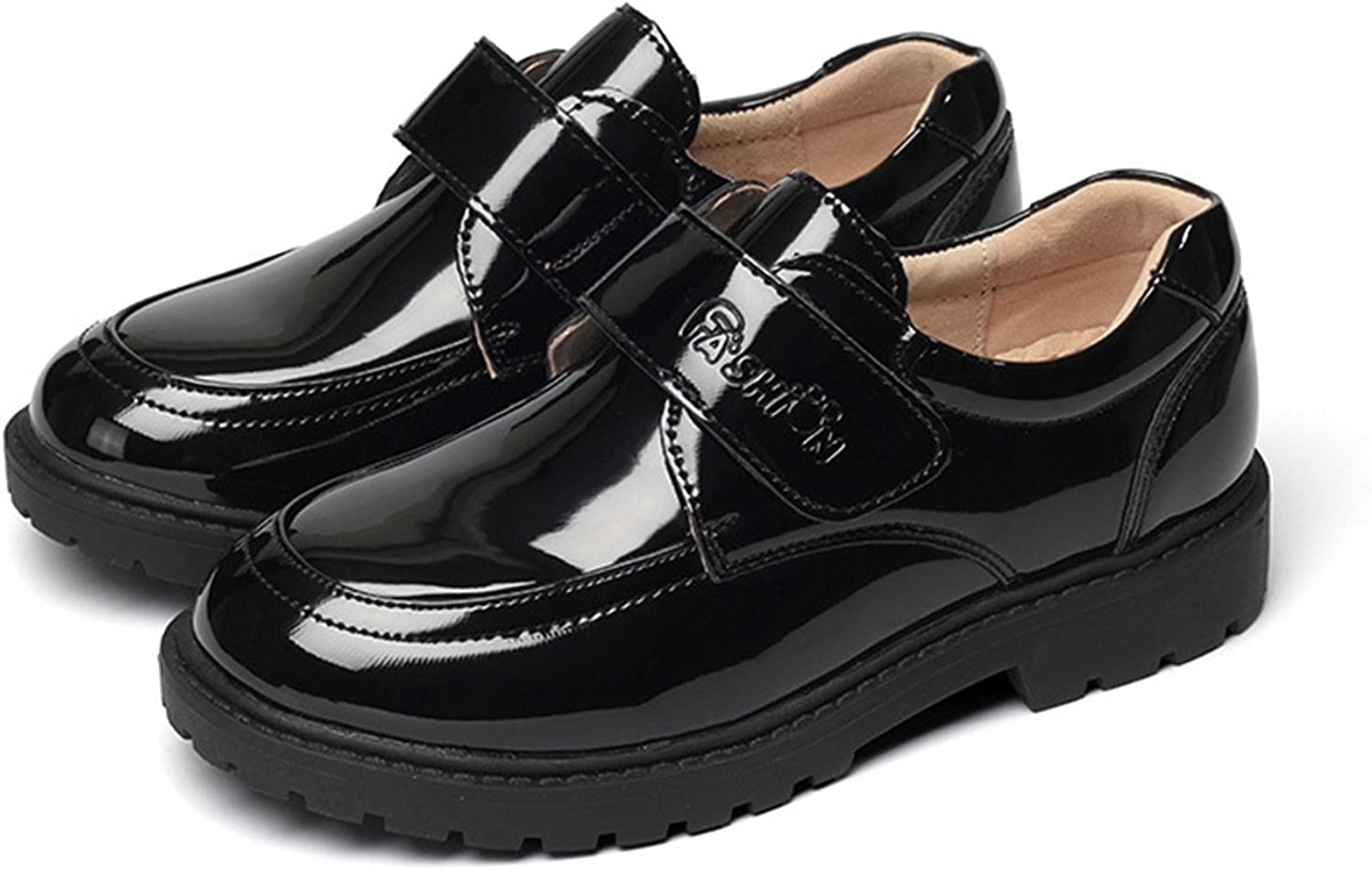 L.P.L Boys Loafers Kids Shoes Student Performance Flats Slip On Style Single Fastener Band Driving Shoes