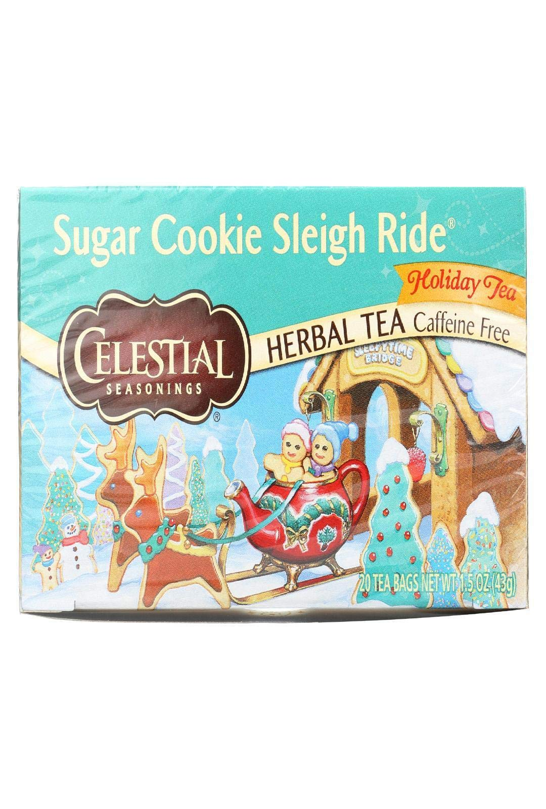 Celestial Seasonings Sugar Cookie Sleigh Ride Tea Bags - 20 ct - 2 Pack