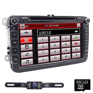 foiioe Radio de Coche 2 DIN Radio DVD navegador GPS, para VW ...