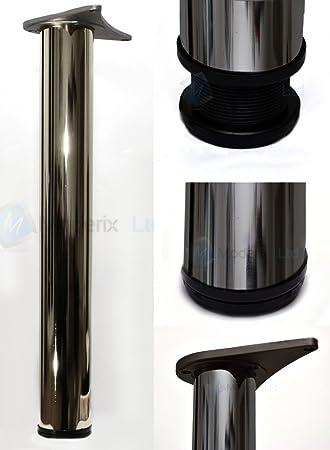 Durante pata para mesa Altura 710 mm, conjunto de 4 cromo pulido ...