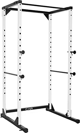 side facing cap barbell full cage power rack