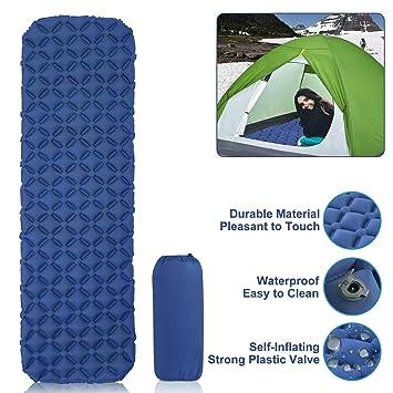 Everwell Colchón Inflable Camping,Colchón Inflable para Dormir Portátil Ultraligero Colchón Auto-inflables Encaja Muy Bien al Aire Libre,Viaje,Playa ...