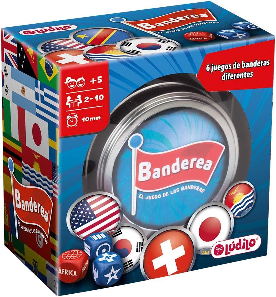 Lúdilo- Banderea, Banderas del Mundo, Mesa para niños, Viaje, Juego Cartas Agilidad Mental, Educativo, Juguete en Familia (80894): Amazon.es: Juguetes y juegos
