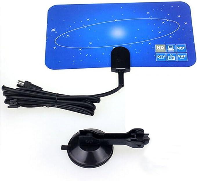 Gosear Caja Alta Ganancia VHF UHF Receptor de Antena de TV Digital Interior Exterior HDTV DTV