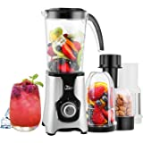 Uten Blender, Multi-functional Smoothie Maker and Mixer for Juicers Fruit Vegetable 220W Automatic Blender Ice Crusher with 22,000 RPM/Min