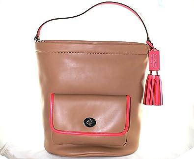 Coach Legacy Archival Two Tone Leather Bucket Purse 22407 (Light  Sand Watermelon)  Handbags  Amazon.com bc3687d845308