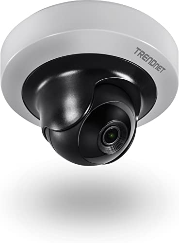 TRENDnet Indoor 2MP 1080p HD WDR Mini Pan Tilt PoE IR Network Camera, H.264 Video Compression, IR Night Vision up to 10m 32.8 ft. , Motion Detection Recording, TV-IP410PI
