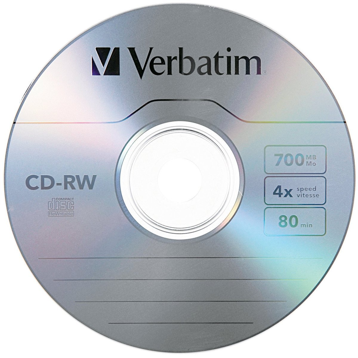 amazon com verbatim cd rw 700mb 2x 4x with branded surface 25pk