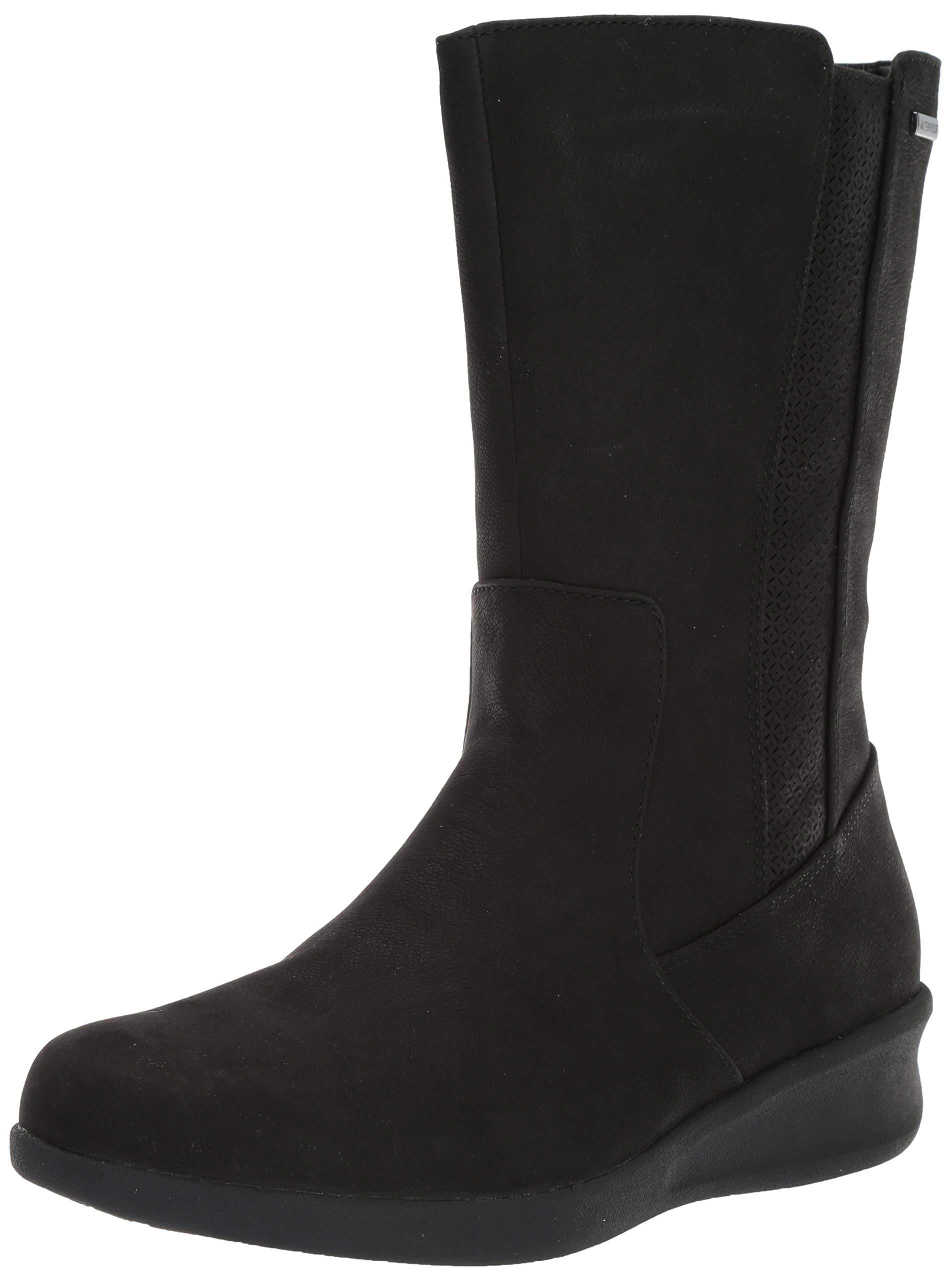 Aravon Women's Fairlee MID Boot Calf, Black, 8.5 2E US by Aravon