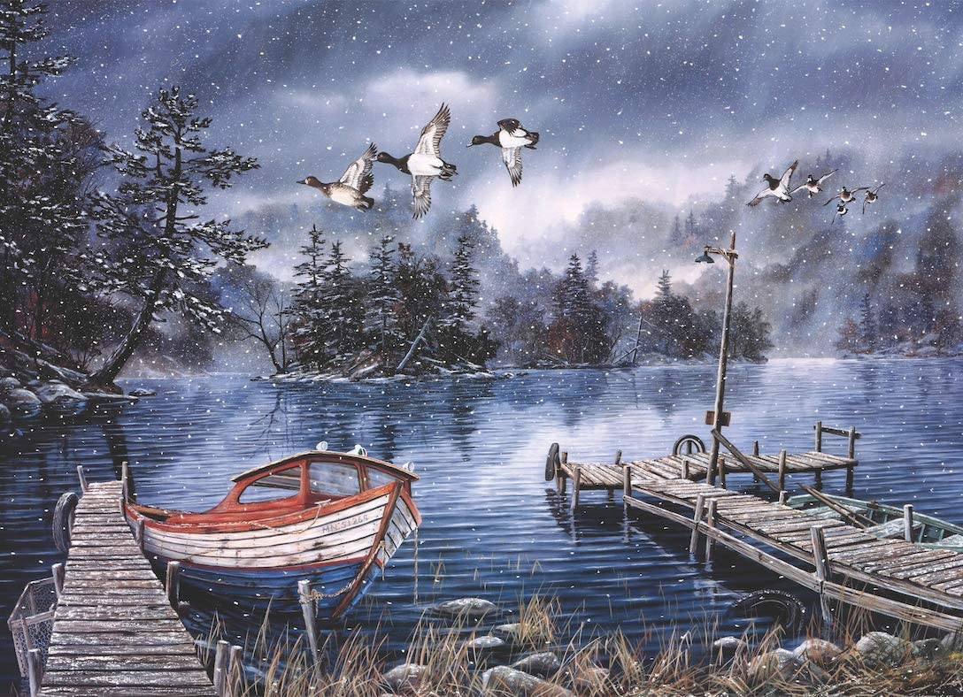 1000 Piece Jigsaw Puzzle Landscape Scenery for Adults & Teens - Gloomy Lake
